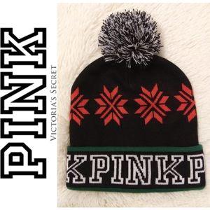 🆕Knit Cuffed Pom Beanie by PINK VS